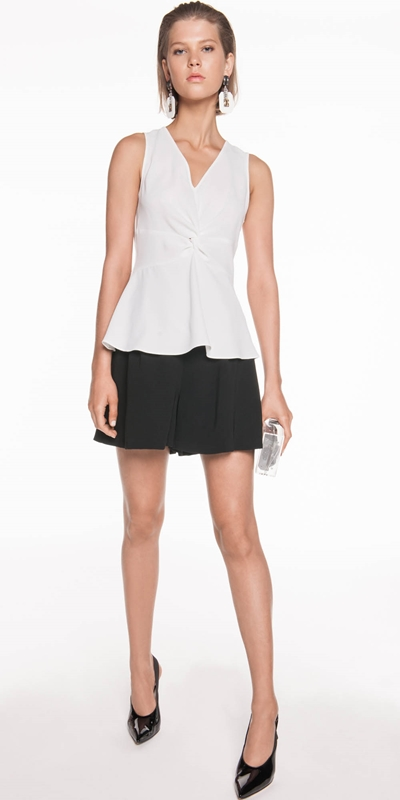 Tops | Soft Crepe Front Twist Top