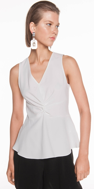 Dresses  | Soft Crepe Front Twist Top