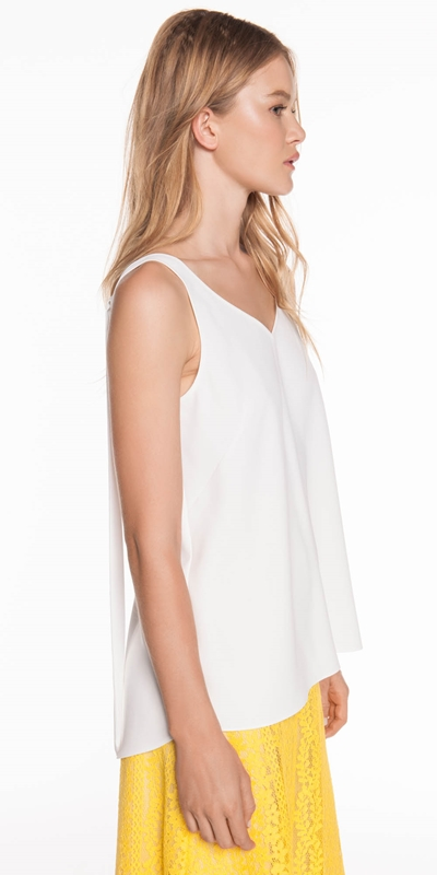 Made in Australia  | Crepe V-Neck Top