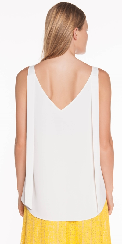 Tops | Crepe V-Neck Top