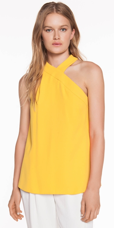 Made in Australia  | Crepe Halter Neck Top