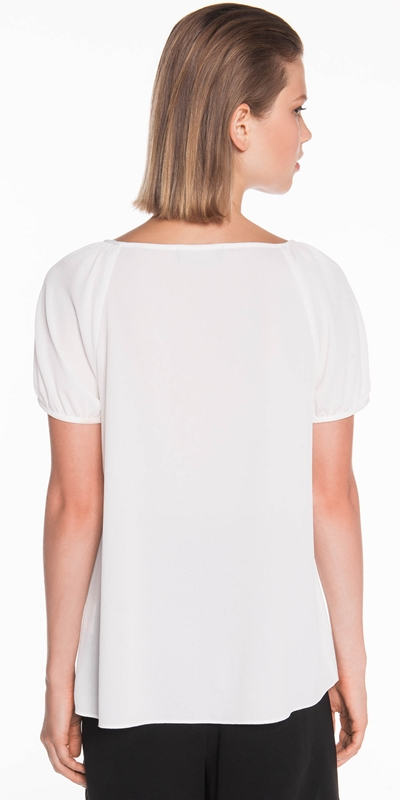 Tops | Textured Georgette Trapeze Top