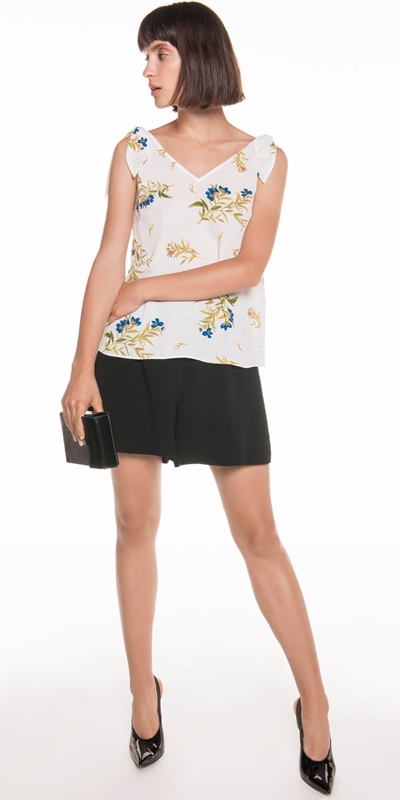 Tops | Bell Flower Shoulder Tie Top