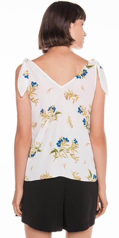 Tops | Bell Flower Shoulder Tie Top