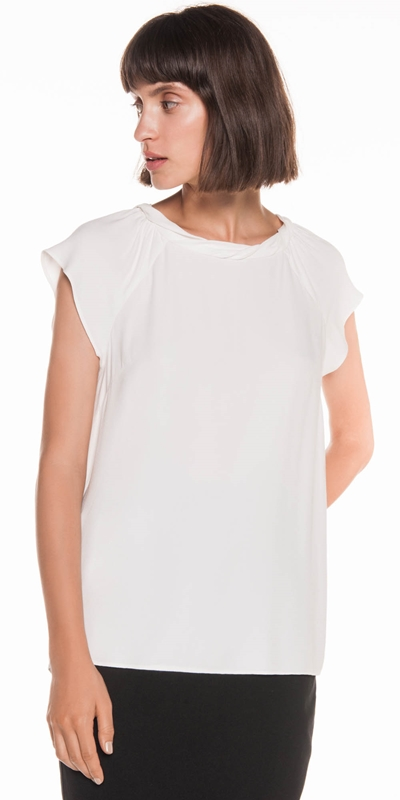 Tops | Fluted Raglan Sleeve Top