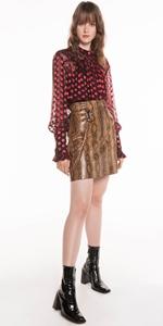 Tops | Ruby Silk Spot Blouse