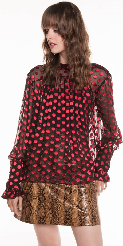 Made in Australia  | Ruby Silk Spot Blouse