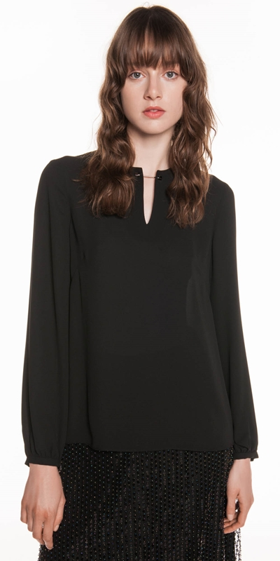 Made in Australia  | Georgette Blouson Sleeve Top