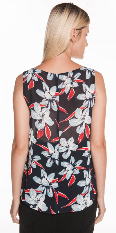 Tops | Illustrated Floral Swing Top