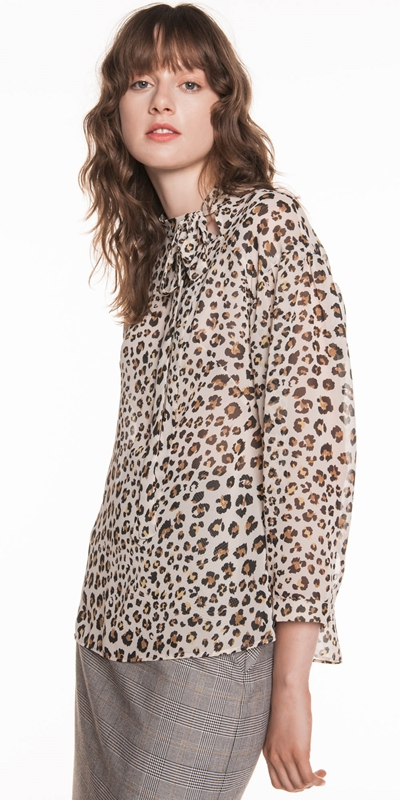 Made in Australia  | Leopard Chiffon Blouse