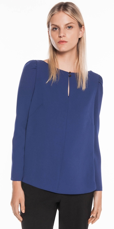 Tops  | Georgette Gathered Sleeve Top