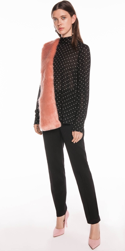 Accessories | Blush Faux Fur Scarf