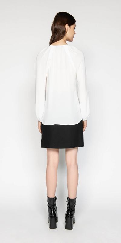 Tops | Georgette Blouson Sleeve Top