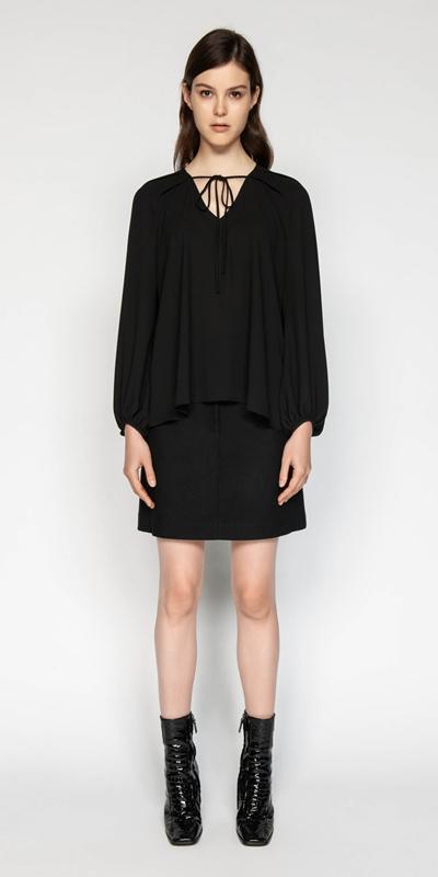 Made in Australia | Georgette Blouson Sleeve Top