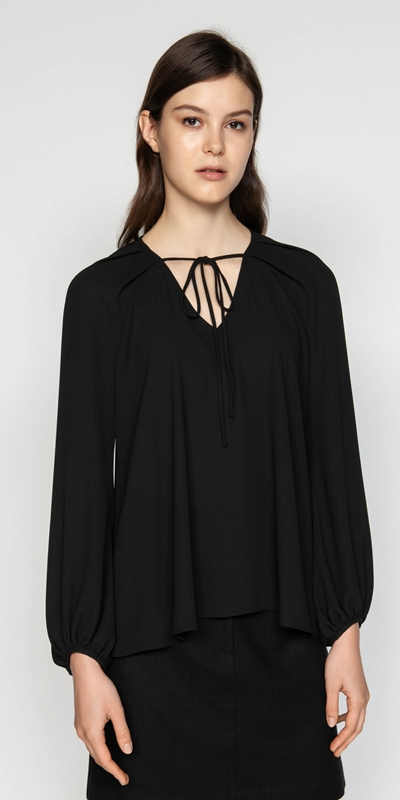 Tops | Georgette Blouson Sleeve Top