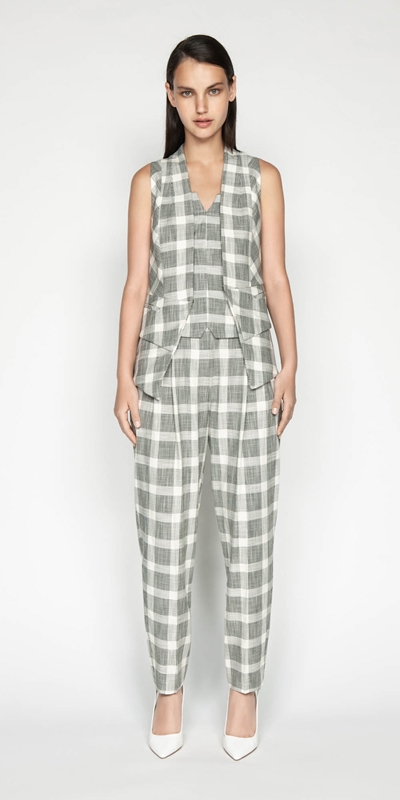 Outlet | Monochrome Check Waistcoat