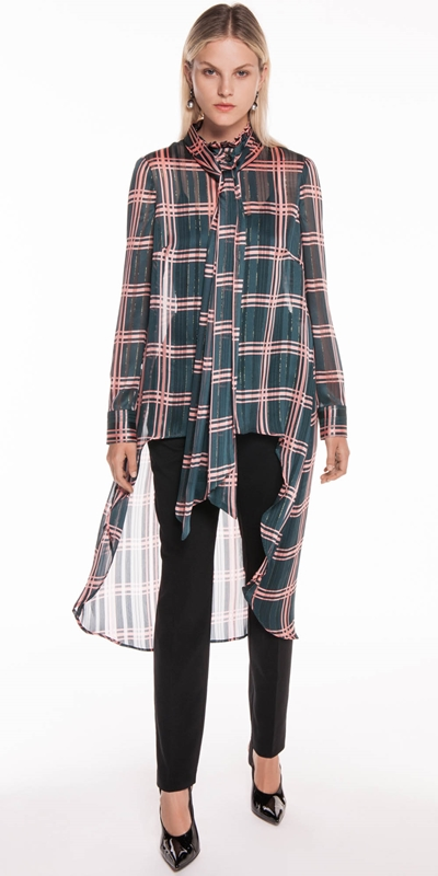 New Arrivals | Double Check Chiffon Victorian Blouse