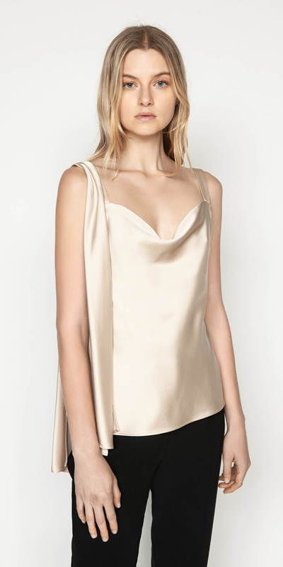 Tops  | Draped Shoulder Cami