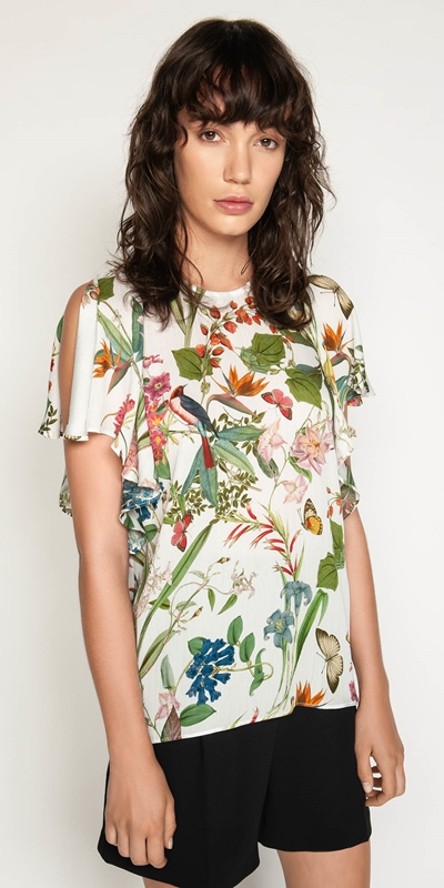 Made in Australia  | Botanical Split Sleeve Top