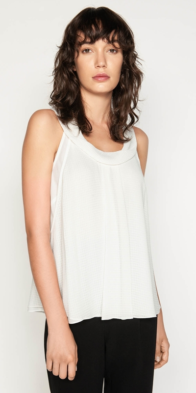 Tops  | Cowl Neck Trapeze Top