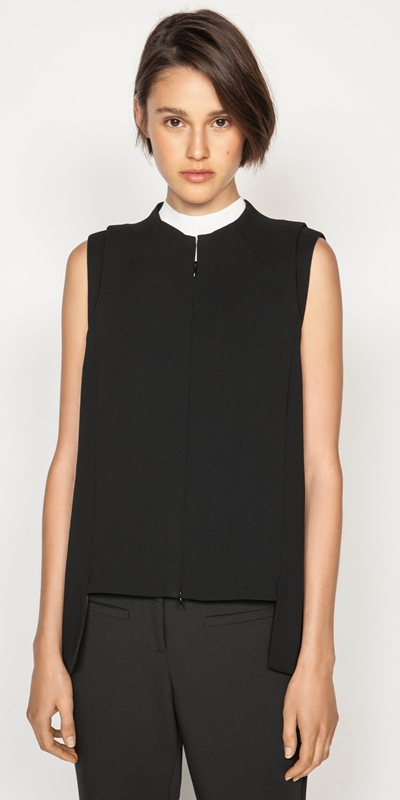 Sale  | Twill Stepped Hem Top