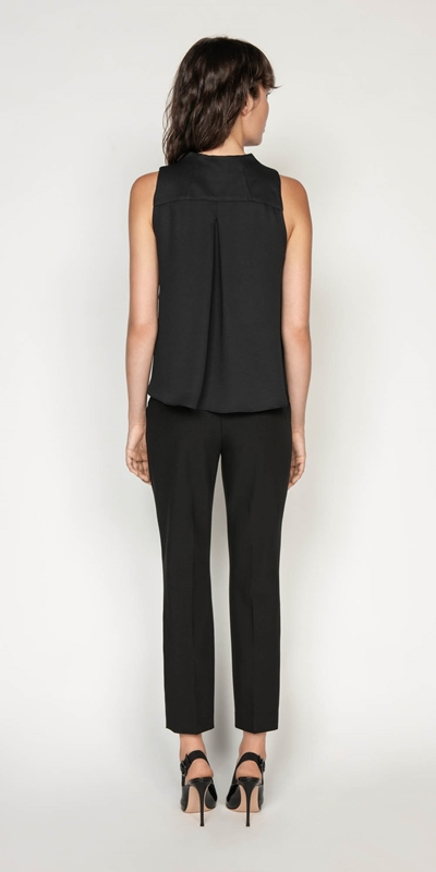 Tops | Funnel Neck Trapeze Top