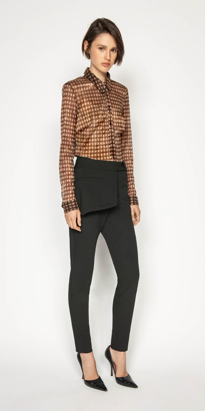 Sale | Metallic Check Body Shirt