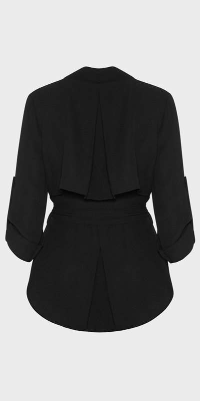 Wear to Work  | Trench Wrap Top