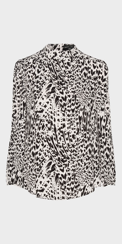 Sale | Abstract Animal Long Sleeve Top