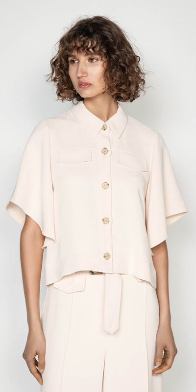 Tops | Kimono Sleeve Button Front Top