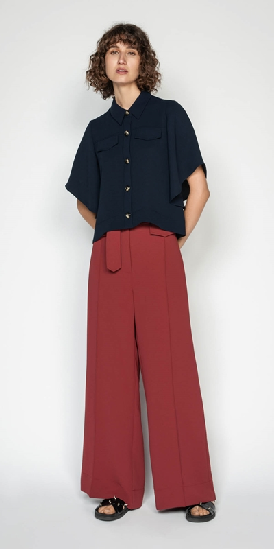 Wear to Work | Kimono Sleeve Button Front Top