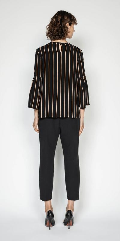 Tops | Stripe Bell Sleeve Top