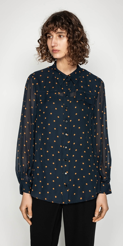 Tops  | Spot Relaxed Shirt