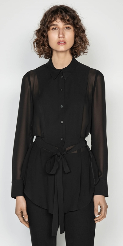 Tops  | Sheer Georgette Shirt