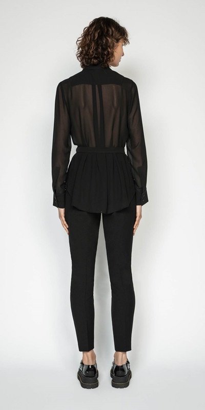 Shirts | Sheer Georgette Shirt