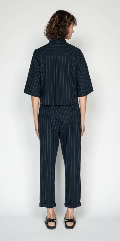 Shirts | Cotton Pinstripe Shirt