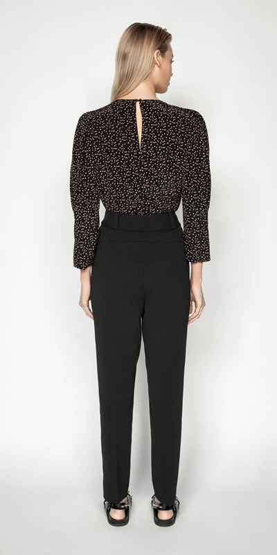 Tops | Scattered Spot Puff Sleeve Top