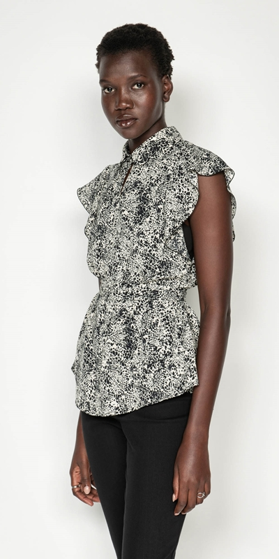 Sale  | Animal Spot Belted Shirt