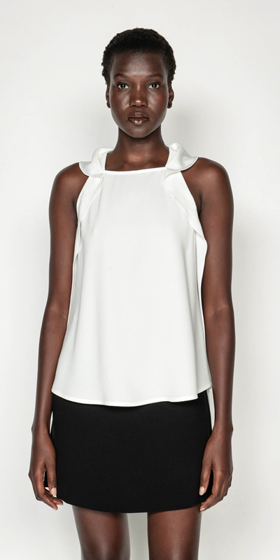 Tops  | Crepe Sleeveless Top