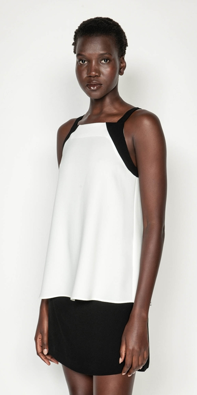 Tops | Crepe Racer Swing Top