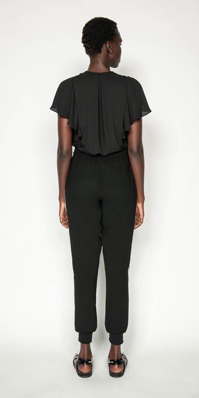Tops | Georgette Frilled Split Sleeve Top