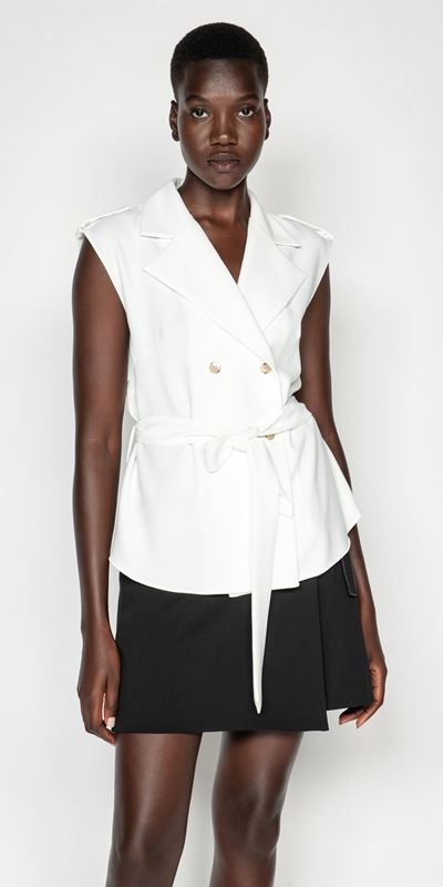 Tops | Sleeveless Trench Top