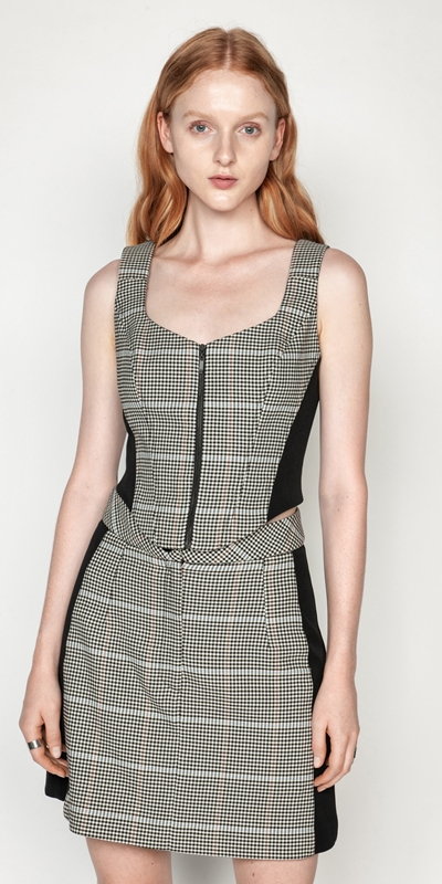 Tops and Shirts | Gingham Corset
