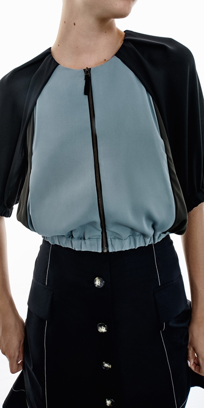 Made in Australia  | Cropped Zip Front Top