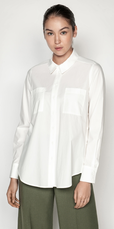 Tops and Shirts | Waxed Cotton Button Up Shirt