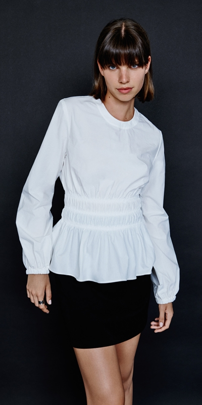 Made in Australia  | Cotton Ruched Waist Top
