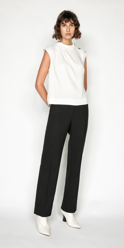 Tops | Drapey Funnel Neck Top