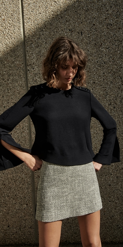 Tops and Shirts  | Split Cuff Top