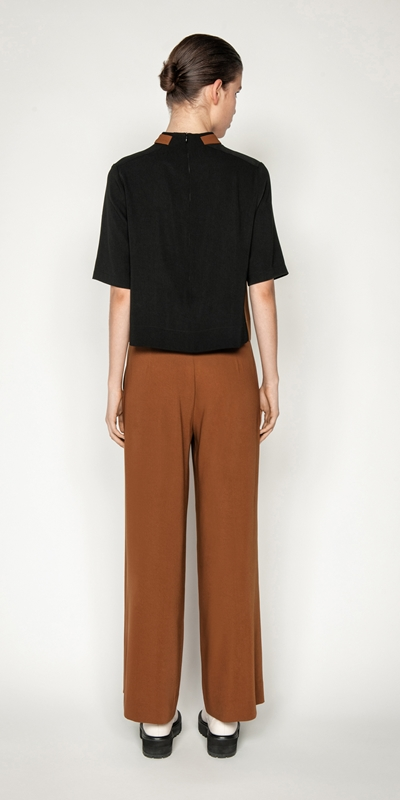 Tops and Shirts   Drapey Funnel Neck Top