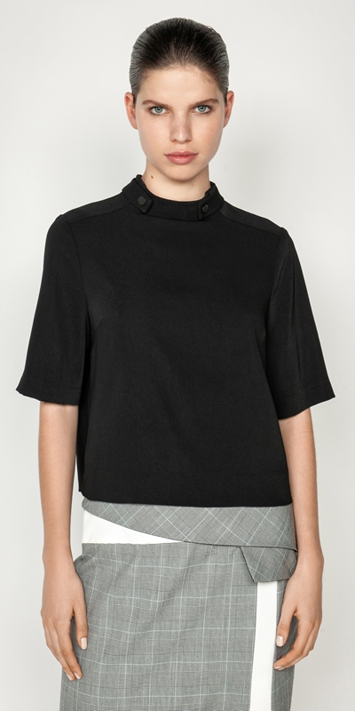 Cue Cares - Sustainable  | Drapey Funnel Neck Top